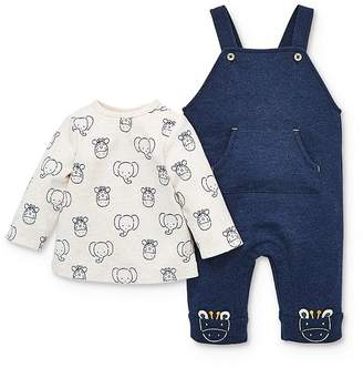 Little Me Boys' Safari Overalls & Long-Sleeve Tee Set - Baby