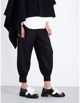Marni Tapered Cropped Wool-flannel Trousers
