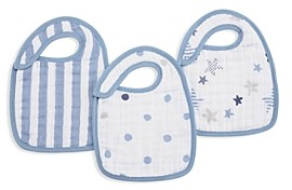 Aden and Anais Baby Boys' Rock Star Snap Bibs, 3 Pack