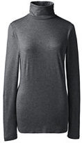 Classic Women's Shaped Layering Turtleneck-Charcoal Heather