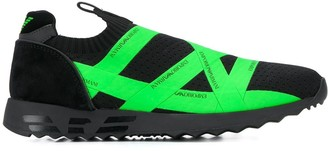 Emporio Armani Logo Tape Slip-On Sneakers