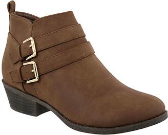 Top Moda Women's Casual boots Brown - Brown Double-Buckle Judy Bootie - Women