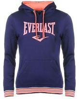 Everlast Womens Large Logo OTH Hoody Hoodie Hooded Top Stripe Warm Kangaroo