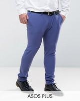 Asos PLUS Super Skinny Suit Pants In Blue