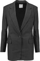 DKNY Pinstriped wool-crepe blazer