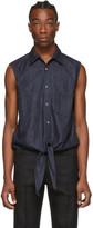 Random Identities Blue Denim Knotty Sleeveless Shirt