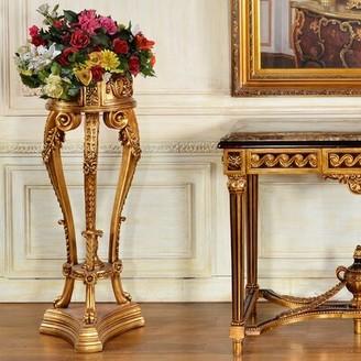 Astoria Grand Aurora Elegant Plant/Telephone Table Stand Color: Antique Silver