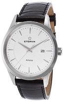 Eterna 2520-41-11-1258 Men's Artena Black Genuine Leather White Dial