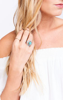 MUMU Turquoise and Tobacco ~ Cactus Flower Ring