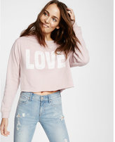 Express one eleven love cropped sweatshirt