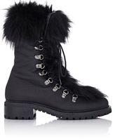 Barneys New York Women's Fur-Trimmed M6 Boots-BLACK