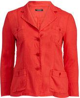 Ralph Lauren Woman Linen 3-Button Blazer