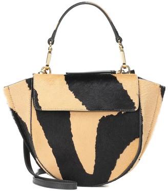 Wandler Hortensia Mini calf hair shoulder bag