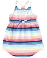 Nautica Little Girls 2T-6X Sleeveless Multi-Stripe Dress