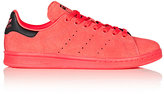 adidas Men's Men's Stan Smith Suede Sneakers-RED, BLACK, BERRY