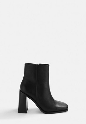 Missguided Square Toe Heeled Boots