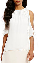Antonio Melani Potter Georgette Silk Cold Shoulder Blouse