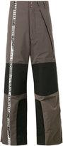 Facetasm Colour block windbreaker trousers