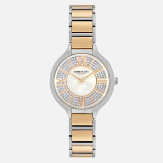 Kenneth Cole Women's Two-Toned Stainless Steel Mother of Pearl Watch