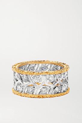 Buccellati Ramage Eternelle 18-karat White And Yellow Gold Diamond Ring - 54