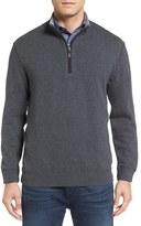 Bugatchi Men's Quarter Zip Knit Pullover Sweater