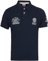 Franklin & Marshall Navy All State Pique Polo Shirt