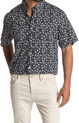 Original Penguin Short Sleeve Ditsy Floral Print Trim Fit Shirt (Big & Tall)