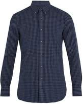 Boglioli Single-cuff checked cotton shirt