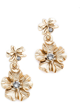 Oscar de la Renta Crystal Bouquet Flower Earrings