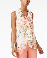 NY Collection Ruffled Top