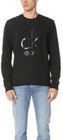Calvin Klein Jeans Mixed Media Crew Sweatshirt