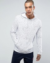 New Look Hoodie With Spray Wash In White