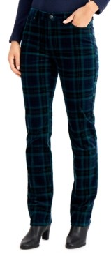 Charter Club Plaid Straight-Leg Jeans, Created for Macy's