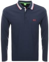 BOSS GREEN Plisy Polo T Shirt Navy