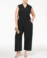 Love Squared Trendy Plus Size Faux-Wrap Jumpsuit