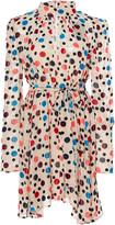 Saloni Tania Printed Silk Mini Dress