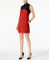 Alfani Petite Mock-Neck Colorblocked Shift Dress, Only at Macy's