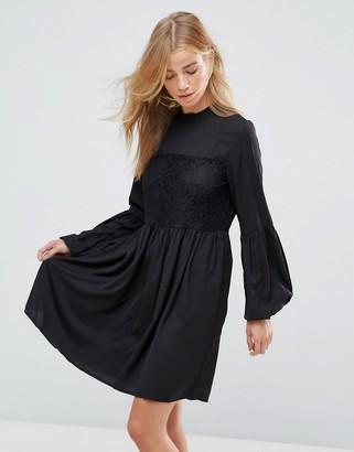 Vila Lace Detail Smock Dress