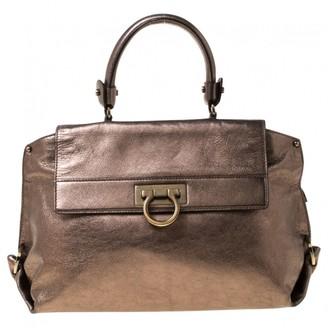 Salvatore Ferragamo Sofia Metallic Leather Handbags
