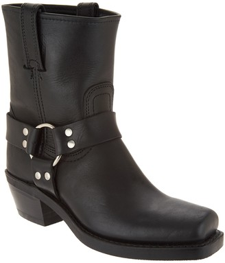 Frye Leather Pull On Ankle Boots - Harness 8R
