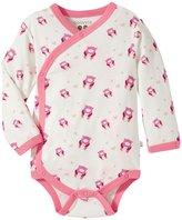 Baby Soy Organic Pattern Kimono Bodysuit (Baby) - Pink Bear - 18-24 Months
