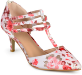 Journee Collection Pink Floral Pacey T-Strap Pump