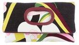 Emilio Pucci Corduroy Fold-Over Clutch