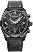 Eterna Men's KonTiki 42mm Leather Band IP Steel Case Sapphire Crystal Quartz Watch 1250-43-41-1308