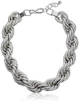"""Robert Lee Morris Rope Chain"""" Silver Collar Necklace"""