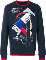 Versace abstract sculpture print sweater