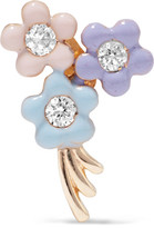 Alison Lou Daisy Bouquet Enameled 14-karat Gold Diamond Earring