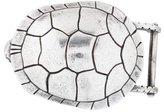 Kieselstein-Cord Sterling Turtle Belt Buckle