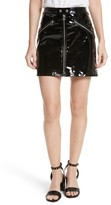 Rag & Bone Women's Racer Leather Miniskirt