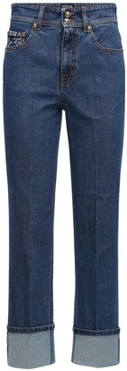 Versace Jeans Couture Stretch Cotton Denim Straight Leg Jeans